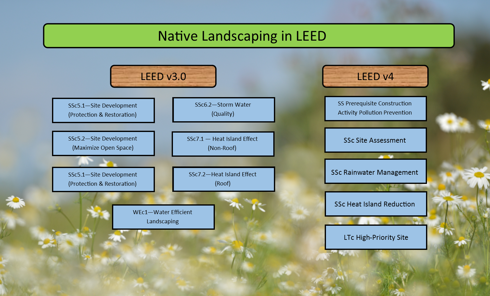 Native Landscaping LEED chart